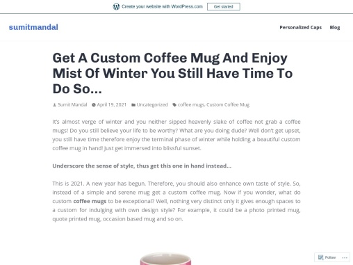 Get a custom coffee mug and enjoy mist of winter you still have time to do so