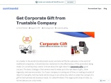 Get Corporate Gift from Trustable Company