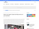 Impact of Printing Services on your business