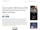 Green Lobster CBD Gummies Shark Tank: A New Product For Better Living