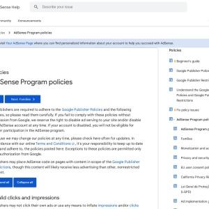AdSense Program policies - Google AdSense Help