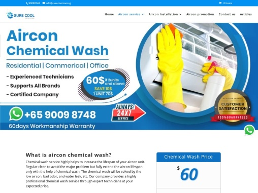Best Aircon Chemical Wash singapore | Aircon Chemical Wash service
