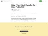 Water Filters Dubai | Water Purifier | Water Purifier UAE