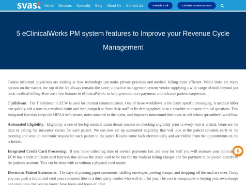 5 eClinicalWorks PM system features to Improve your Revenue Cycle Management