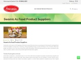 Best Food Product Suppliers in South India | Swamis Foods