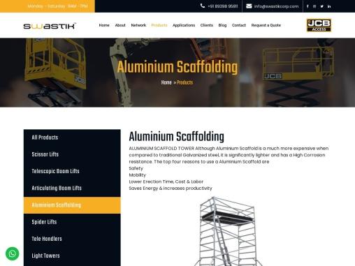 Aluminium Scaffolding Rental & Sale in Chennai | Scaffolding for Manufacturer