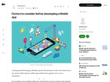 Factors to consider before developing a Mobile app