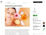 Health and beauty tips for Women