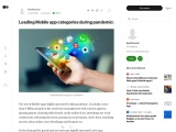 Leading Mobile app categories during pandemic