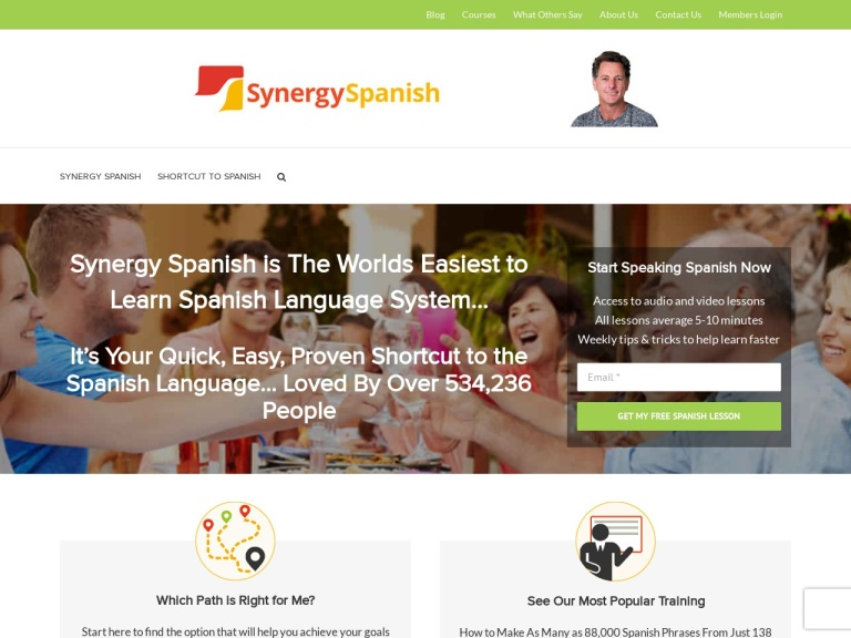 Synergy Spanish Coupons and Discounts March 2021 screenshot