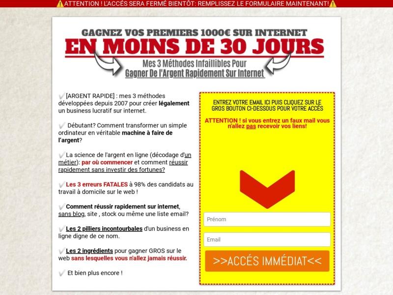 profit expressobjectif 1000 euros en 30 jours