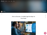 How to Become a Certified App Developer in Easy Steps?