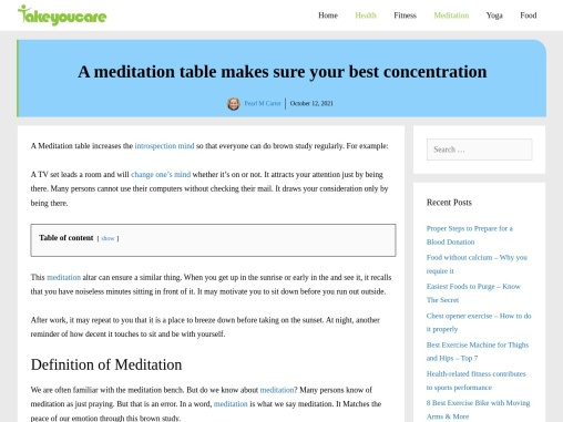 A meditation table makes sure your best concentration