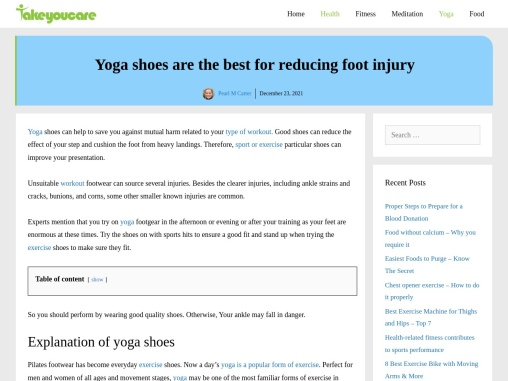 Yoga shoes are the best for reducing foot injury