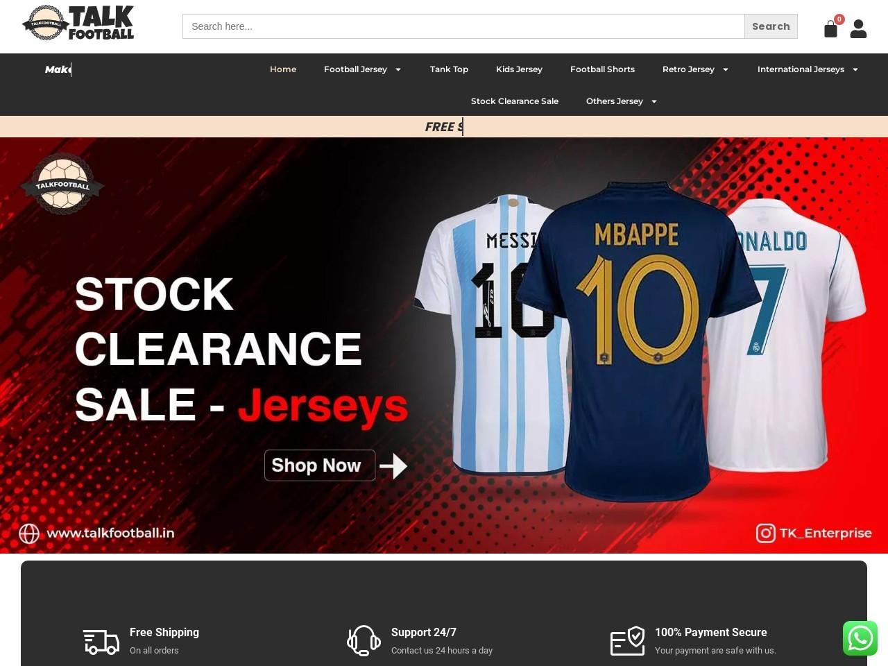 Buy Barcelona Football Jersey in India Online