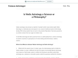 Is Vedic Astrology a Science or a Philosophy?