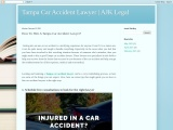How To Hire A Tampa Car Accident Lawyer?