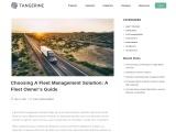 Choosing A Fleet Management Solution: A Fleet Owner's Guide