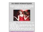 101 IDEES ROMANTIQUES