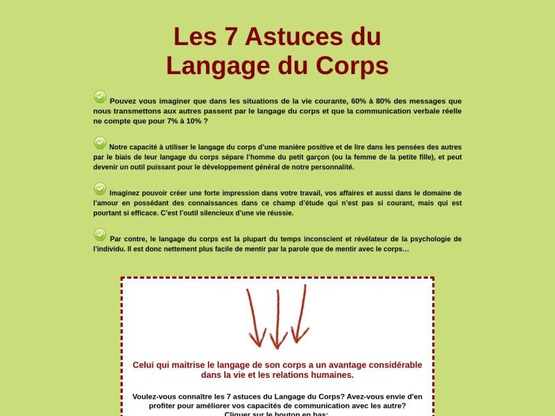 les 7 astuces du langage du corps