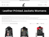 Leather Printed Jackets Womens