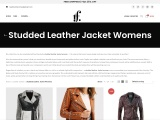 Studded Leather Jacket Womens taper