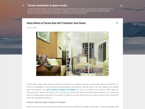 Glass Works at Taruna that will Transform Your Home