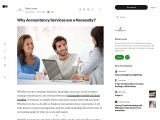Why Accountancy Services are a Necessity?