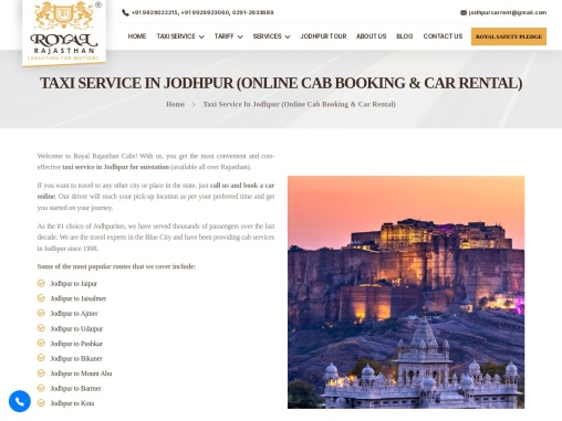 Best Car and taxi rental services in Jodhpur | Hire Outstation and Local Taxi