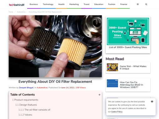 Everything About DIY Oil Filter Replacement