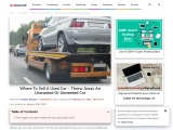 Where To Sell A Used Car – Throw Away An Unwanted Or Unneeded Car