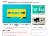 Tips And Tricks For Branding: It's Not As Hard As It Looks