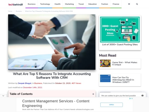 What Are Top 5 Reasons To Integrate Accounting Software With CRM