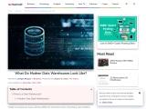 What Do Modern Data Warehouses Look Like?
