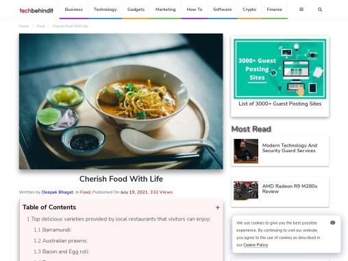 Cherish Food With Life – Tech Behind It