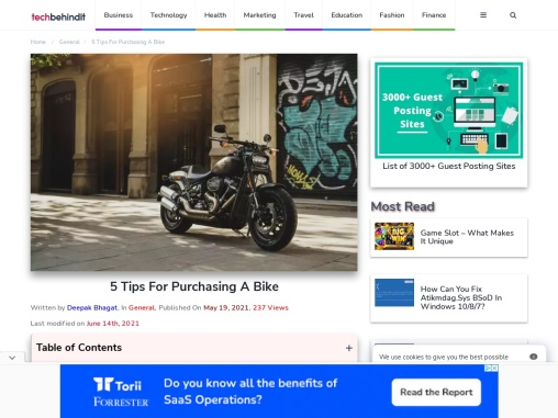 5 Tips For Purchasing A Bike – Tech Behind It