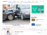 8 Common Questions You Need To Answer In A Car Accident Claim