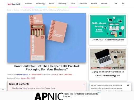 How Could You Get The Cheaper CBD Pre-Roll Packaging For Your Business?
