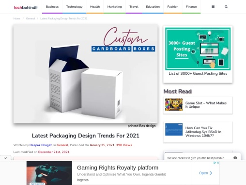 Latest Packaging Design Trends For 2021
