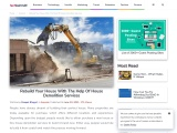 Rebuild Your House With The Help Of House Demolition Services