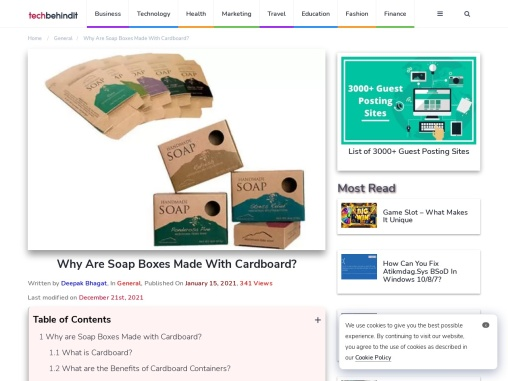 Why Are Soap Boxes Made With Cardboard?
