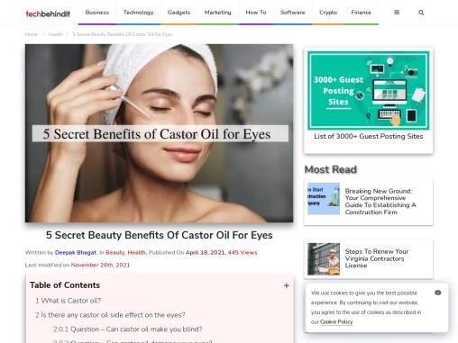 5 Secret Beauty Benefits Of Castor Oil For Eyes