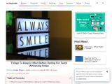 Things To Keep In Mind Before Opting For Teeth Whitening Strips