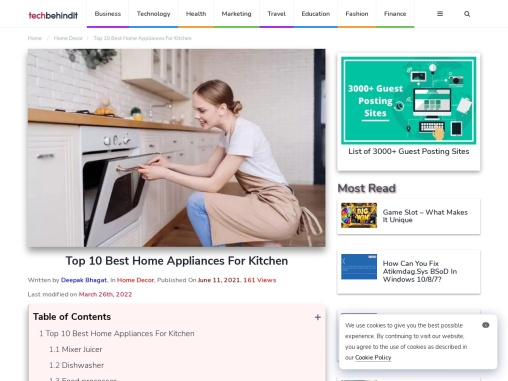 Top 10 Best Home Appliances For Kitchen