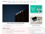 How To Open Your Own Mini-Hotel?