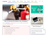 How To Promote Fire Safety In Your Workplace?