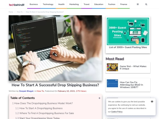 How To Start A Successful Drop Shipping Business?