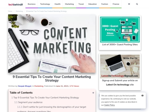9 Essential Tips To Create Your Content Marketing Strategy
