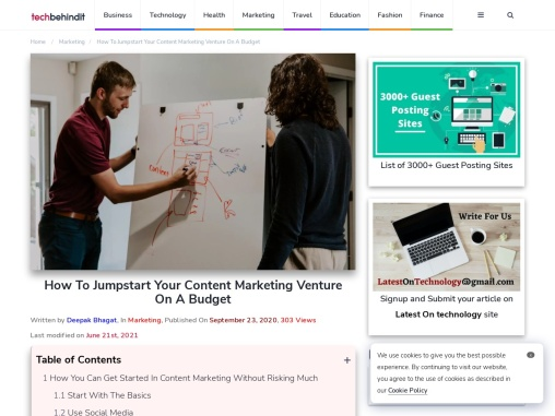 How To Jumpstart Your Content Marketing Venture On A Budget