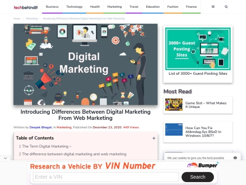 Introducing Differences Between Digital Marketing From Web Marketing